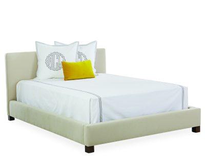 upholstered queen size headboard bed