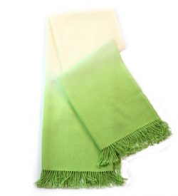 Alpaca throw green