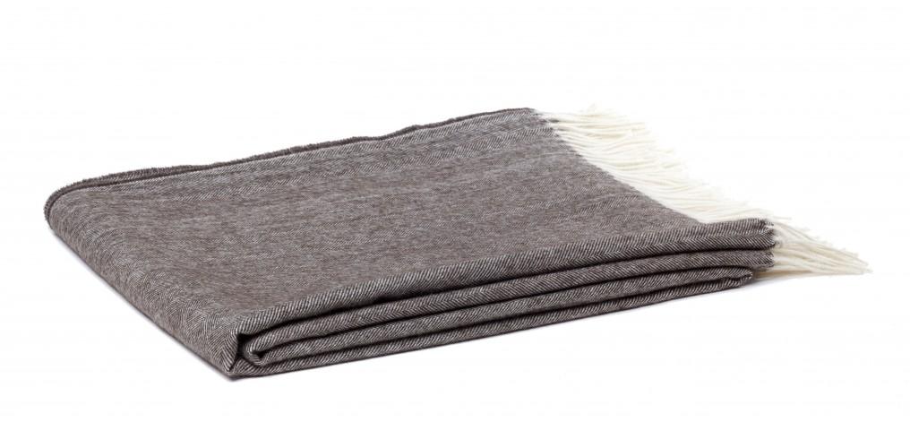 espress herringbone alpaca throw