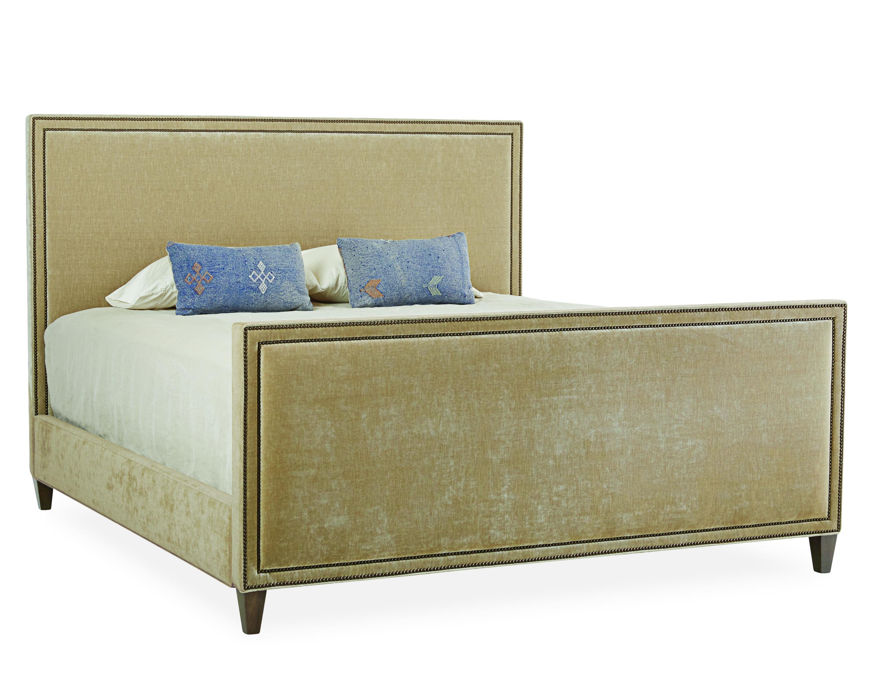 new product beaed 44103 Lee Nailhead-trim Upholstered Headboard & Footboard