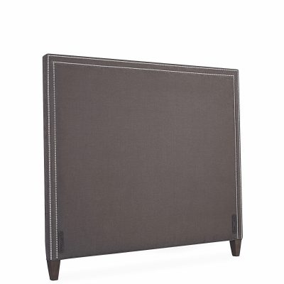 queen headboard upholstered nailheads