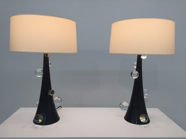 Bronze lamps with crystal