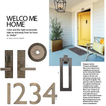Press - 805 Living - Welcome Home - 1