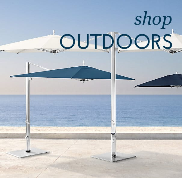 outdoor furnishings and umbrellas