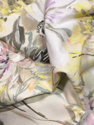 As if an Impressionist's canvas on luxurious cotton