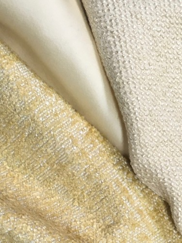 Buttercream hues with shimmer in chenille