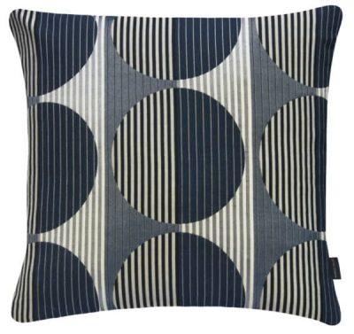 navy blue geometric pillow