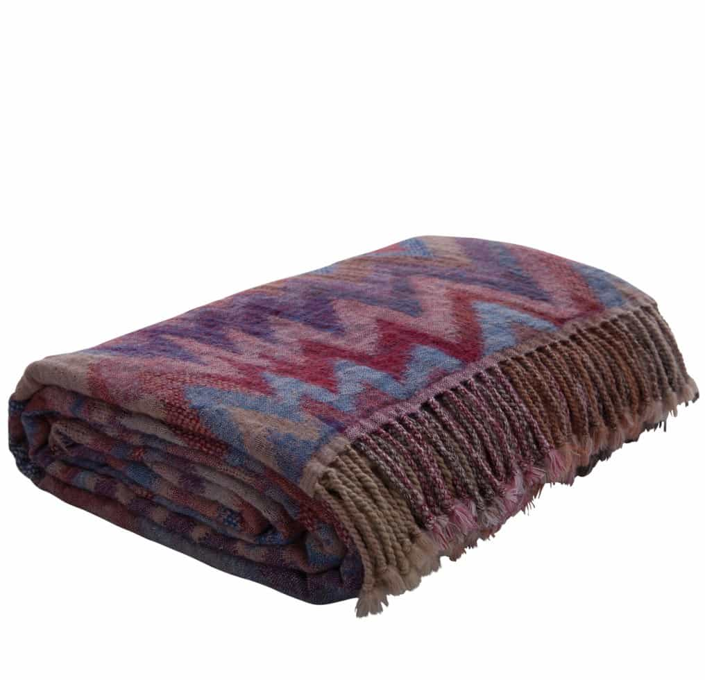 zig zag pattern mohair throw
