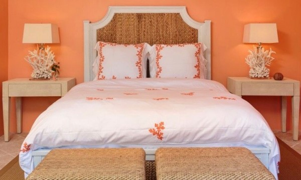 Orange Guest Bedroom