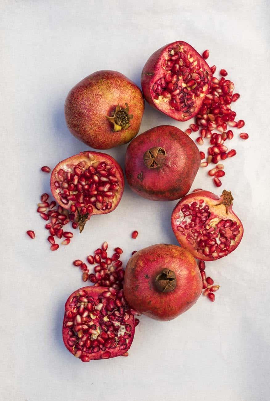Santa Barbara, California; botanical, pomegranates, The Lark