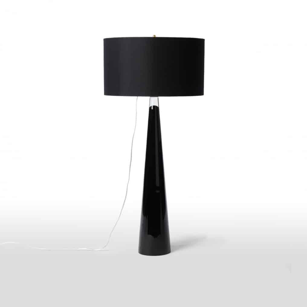 Black Glass Lamp