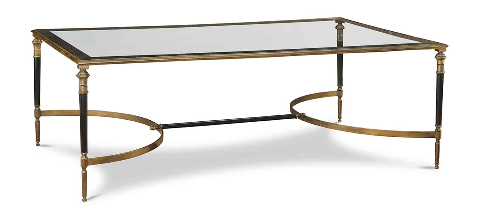 Arbois Rectangular Cocktail Table With Glass Top Cabana Home